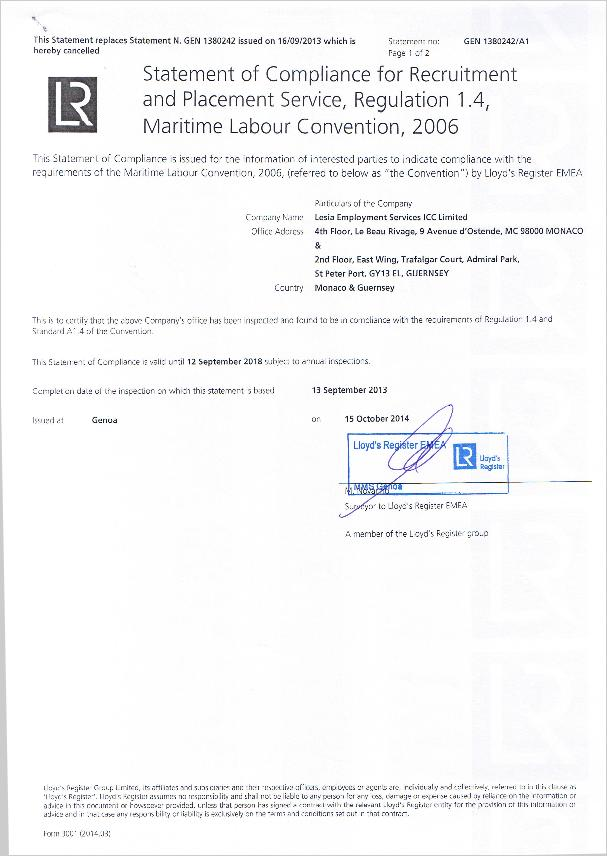 LRStatementofCompliance20141015CertificateAR1